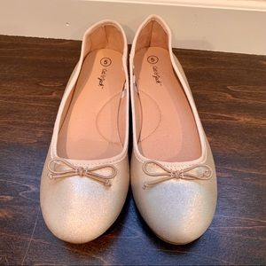 Girls Gold Ballet Flats - Perfect for Dressing Up!